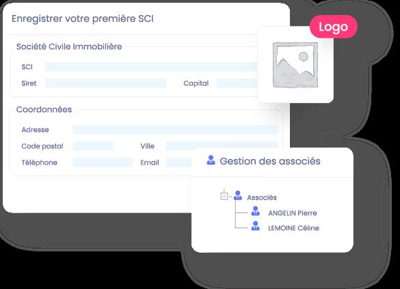creer-sci-gerer-associe-logo-Logiciel en ligne SCI - gestion locative immobilière et comptabilité - InfoSCI