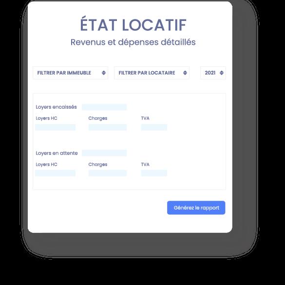 etat locatif Logiciel en ligne SCI - gestion locative immobilière et comptabilité - InfoSCI