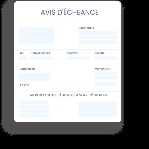 gestion-locative-avis-echeance-Logiciel en ligne SCI - gestion locative immobilière et comptabilité - InfoSCI