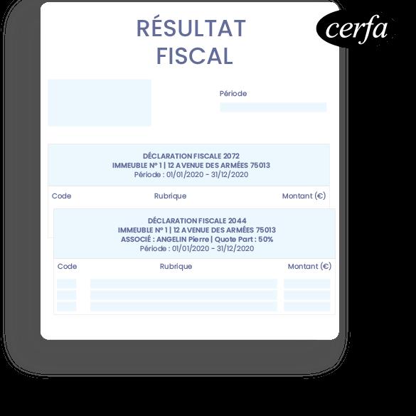 resultat-fiscal-Logiciel en ligne SCI - gestion locative immobilière et comptabilité - InfoSCI