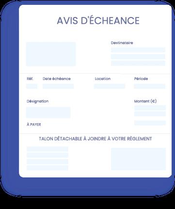 Loyer-avis-echeance- InfoSCI | Logiciel en ligne de gestion locative immobilière comptabilité SCI